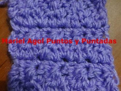 Puntada  a crochet muy sencilla. Muestra No. 145