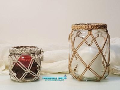 Reciclar tarros de cristal decoración