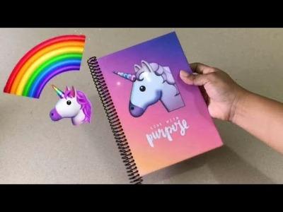 REGRESO A CLASES 2018. Cuaderno unicornio de lineas para IMPRIMIR