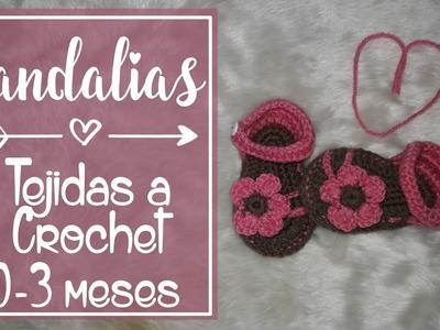 Sandalia Para bebé A Crochet | 0-3 meses