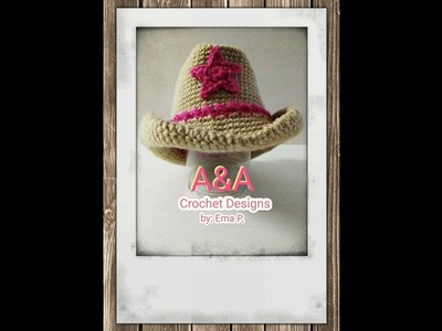Sombrero vaquero tejido en crochet, paso a paso ( escrito)