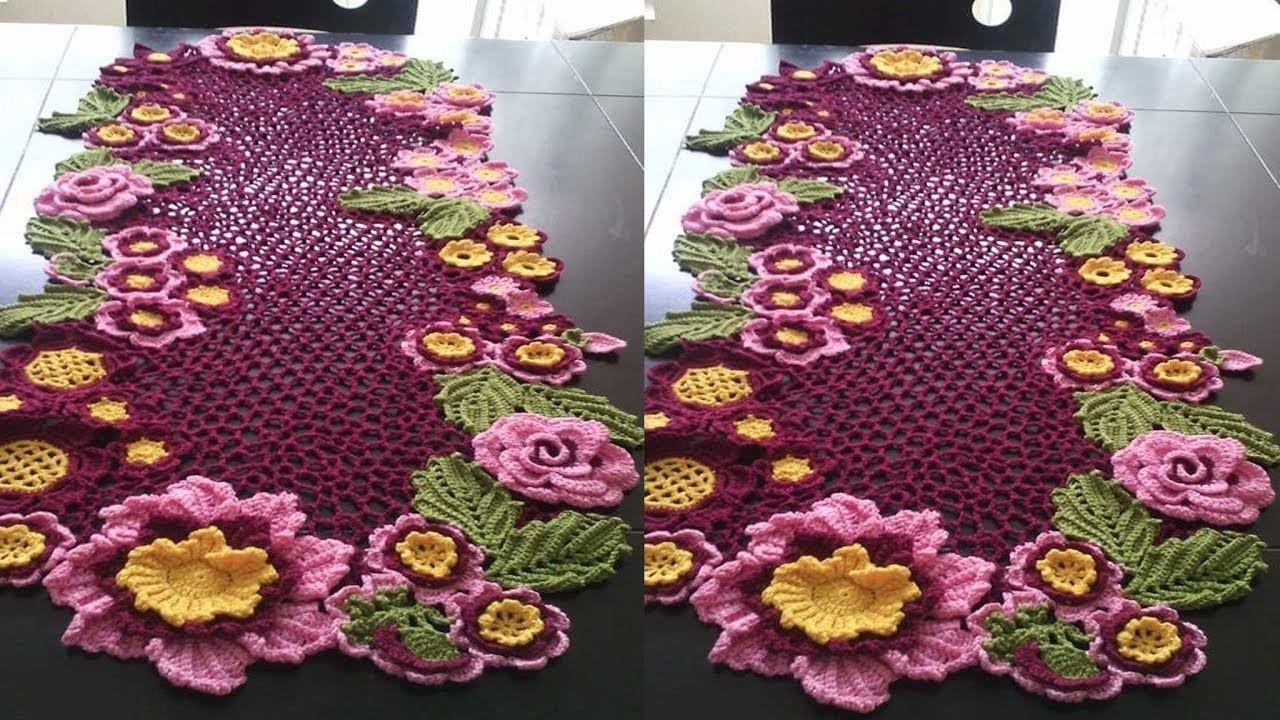 Tejidos a Crochet. Manteles de Flores