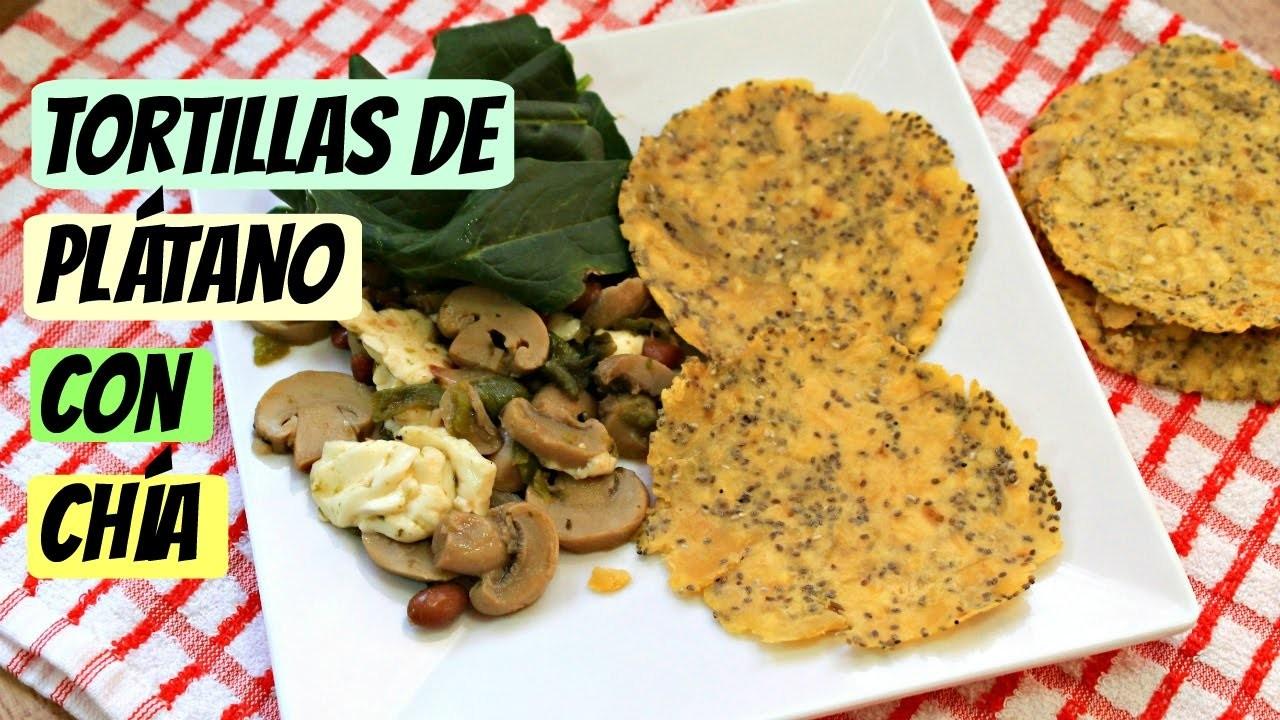 Tortillas saludables de plátano y chía