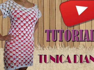 TUNICA TEJIDA A CROCHET (DIANA) PUNTADA FACIL (PARTE 2 DE 2)