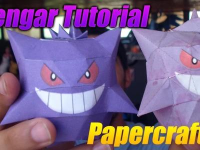 Tutorial ★ Como hacer a Gengar en Papel (Papercraft Rapido y Fácil)