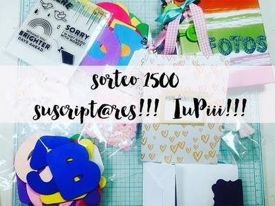 1er.SORTEO  en ARGENTINA SCRAPBOOKING y MANUALIDADES !! 1500 SUSCRIPTORES!. scrap dulce scrap
