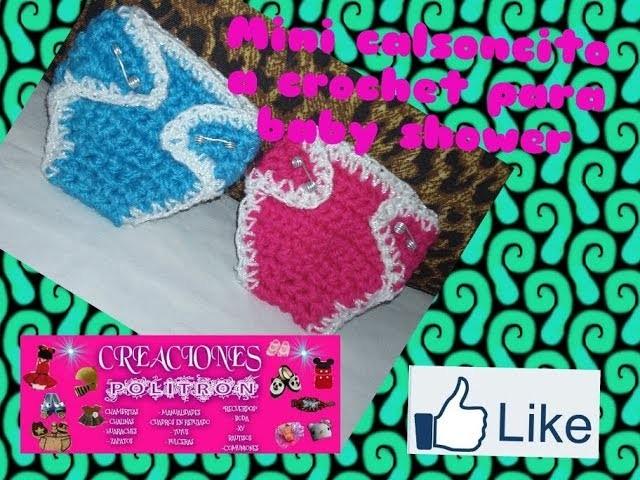 #4 de 5 vídeos mini pañalito a crochet para recuerdo de baby shower o corsage