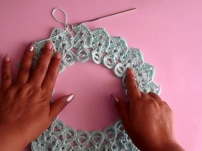 Blusa a crochet - ganchillo - tejida para dama - facil y rapido - parte #1
