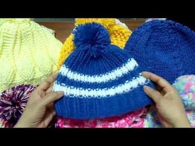 Colección de gorros y bufandas tejidos a Crochet