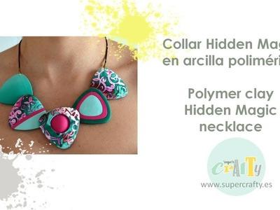 Collar Hidden Magic en arcilla polimérica