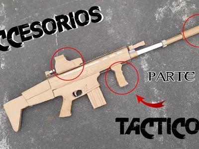 Como hacer accesorios tácticos de cartón | how to make cardboard  tactical accessories (parte 1)