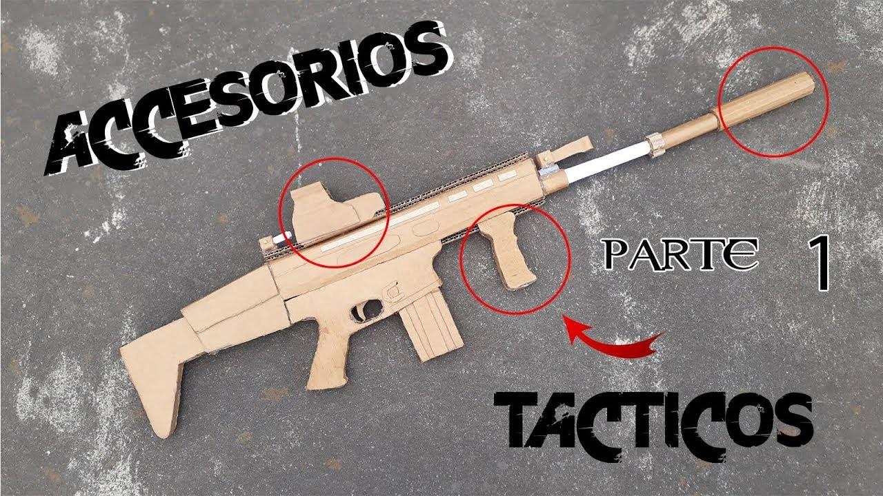 Como hacer accesorios tácticos de cartón   how to make cardboard  tactical accessories (parte 1)