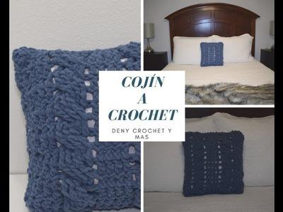 Como hacer Cojin con punto Cable o Trenzas en Crochet