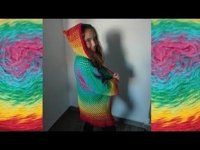 Como hacer Jersey Chaqueta hexágonos crochet ganchillo paso a paso