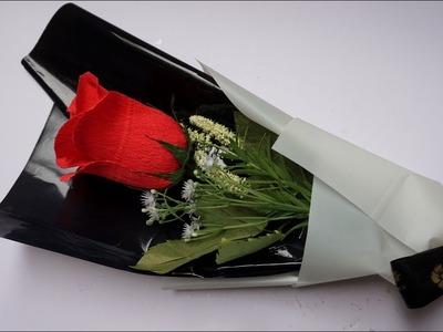 Cómo hacer Ramo de rosas - Rosa de papel - DIY bouquet of roses | manualidades