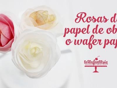 Cómo hacer rosas con papel de oblea o  wafer paper
