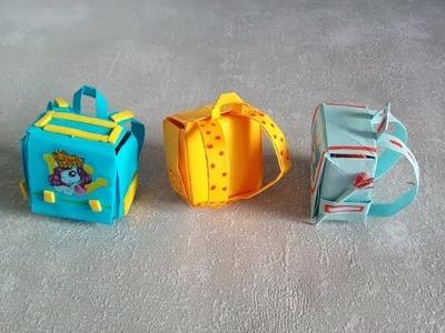 Cómo hacer una Mochila escolar  de Papel | Origami. Manualidades para niños