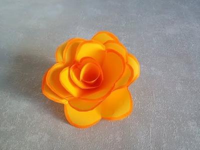 Como hacer una rosa de papel. Manualidades infantiles fáciles y rápidas