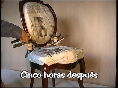 Como reparar una silla rota de estilo Isabelino