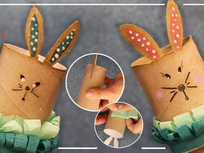 Conejo con rollo de cartón | DIY conejo con de cartón | Conejo De Pascua