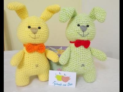 """Conejos Amigurumi a Crochet  """"CUERPO"""" Versión (DIESTRO)"""