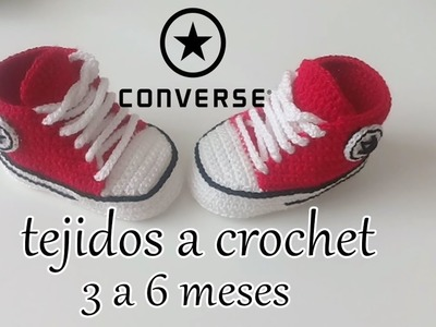 Converse tejidos a crochet  - bebe - ALL STAR