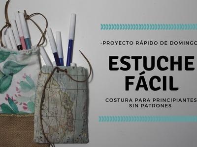 COSTURA FÁCIL SIN PATRONES || ESTUCHE DIY || MÁQUINA LIDL SINGER TRADITION