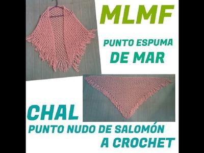 Crochet: Chal Punto Nudo de Salomón - Manualidades La Manita Felíz