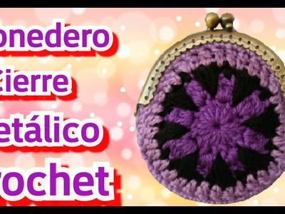 Crochet: Monedero Con Cierre Metálico - Manualidades La Manita Felíz