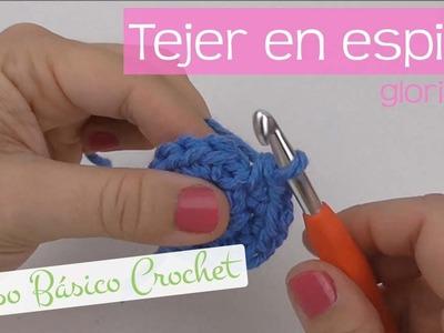 Curso básico crochet: tejer en espiral. Spiral crochet