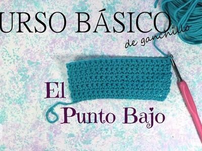 Curso básico de ganchillo * Clase 3: Punto Bajo. Single Crochet * Saekita Ganchillo