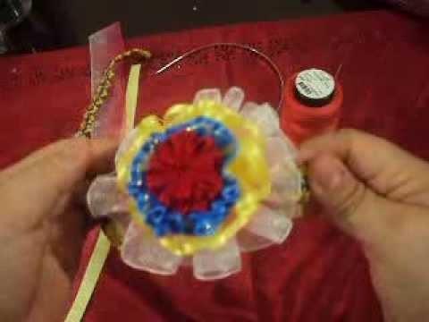Diadema con colores de la Bandera. Headband with colors of the Flag