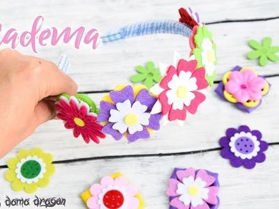 Diadema o Tiara de flores. DIY