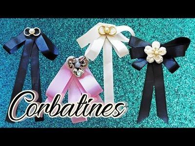 Diy como hacer moños corbata femeninos (fáciles)