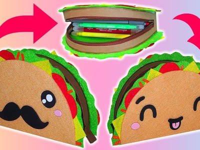 ✨????DIY: Estuche o Lapicera de Taco Kawaii Reversible || #KawaiiWeek 3????✨