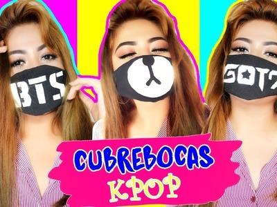 DIY K-POP : HAZ TU PROPIO CUBREBOCAS ???? BTS - GOT7 ???? Manualikpop