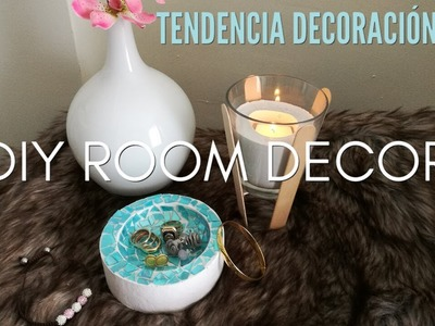 DIY ROOM DECOR 2018 | TENDENCIAS DECORACIÓN 2018 | JOYERO DE YESO 2018 | DIY IDEAS CON YESO 2018