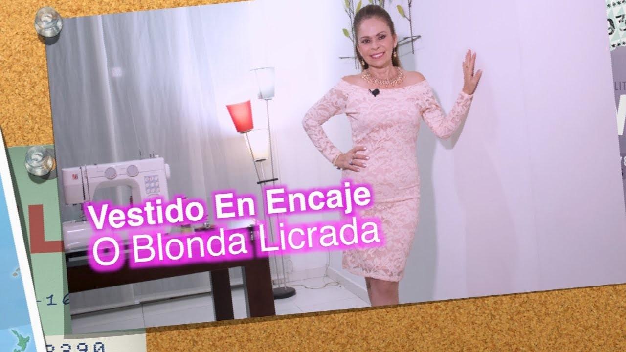 DIY Vestido en Encaje o Blonda Licrada   Dress in lacy lace or lace- Omaira tv