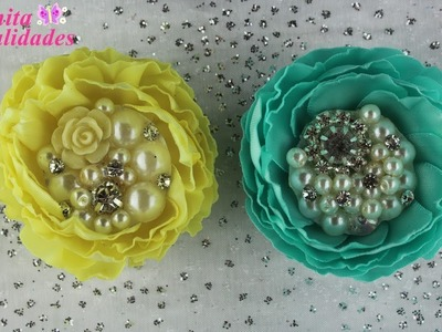 FABRIC FLOWER Mini Flor Plisada | Anita Manualidades