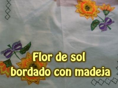 Flor de sol con madeja |Creaciones y manualidades angeles