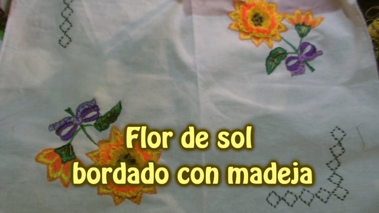 Flor de sol con madeja  Creaciones y manualidades angeles