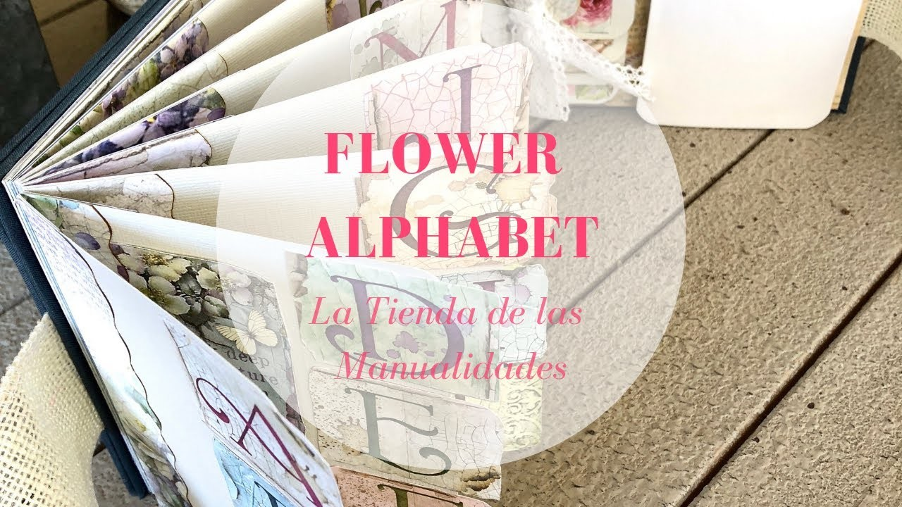 Flower Alphabet Stamperia - La Tienda de las Manualidades