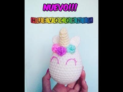 Huevocornio: Huevo de pascua unicornio tejido a cr