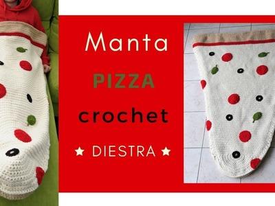 MANTA PIZZA A CROCHET ???? | DIESTRA | CHIC DIY