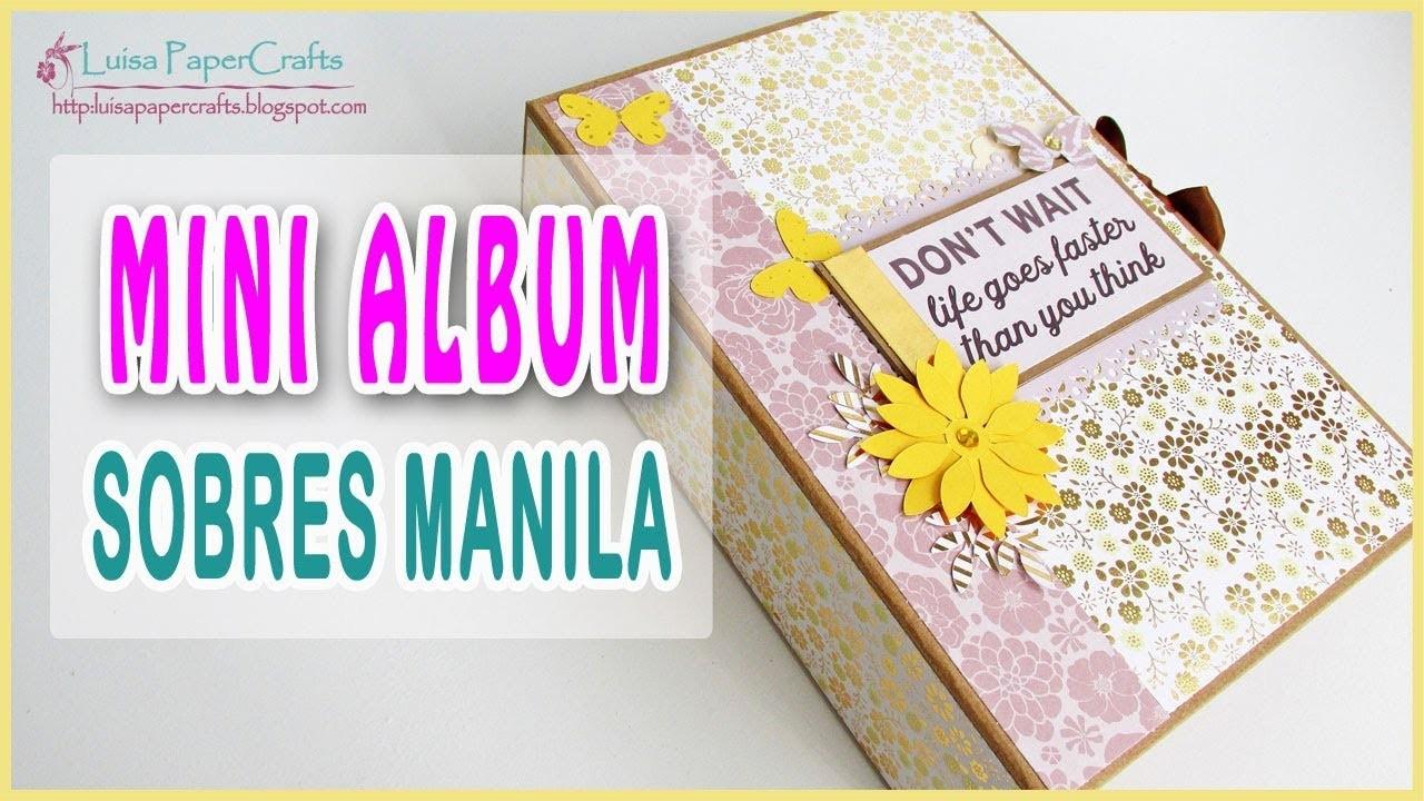 Mini Album con Sobres Manila TUTORIAL SCRAPBOOKING | Luisa PaperCrafts