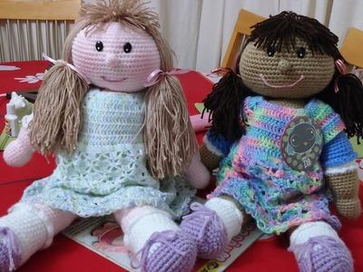 """Muñeca Emily Amigurumi a Crochet """"PIERNAS"""" Versión Tutu (DIESTRO)"""
