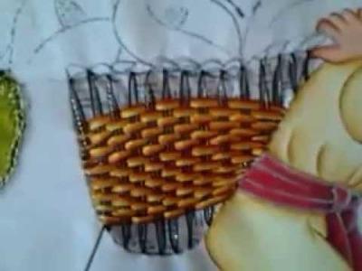 Pintura en tela vendedor de flores # 3 con cony