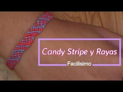 Pulsera de Hilo: Candy Stripe y Rayas