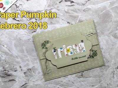 Review de Paper Pumpkin. Tarjetas de felicitación florales. StampinUp *en español*