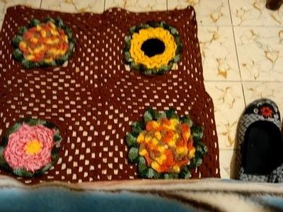 Tapete de flores a crochet
